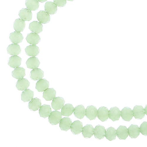 3 mm Rondelle - Light Green Opaque