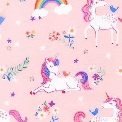 Cotton Fabric - Happy Little Unicorns