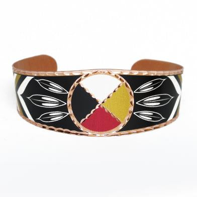 Copper Bracelet - Medicine Wheel