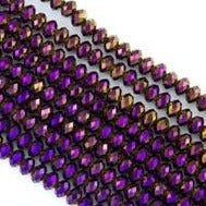 3 mm Rondelle - Purple Iris Metallic