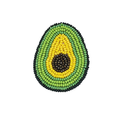 Beaded Phone Grip - Avacado