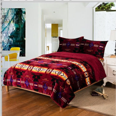 King Sherpa Set - Santa Fe Burgundy