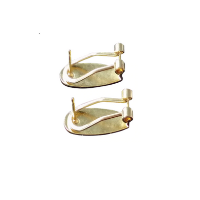 Leverback Earring Posts - Gold (10 pairs)
