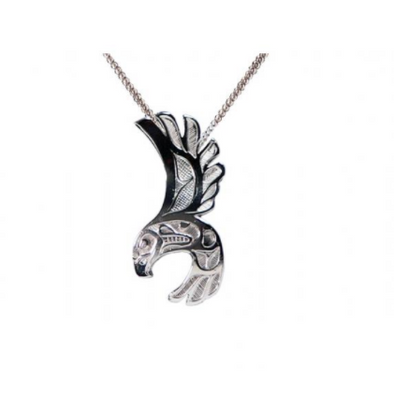 Silver Pewter Necklace - Eagle Free Flight