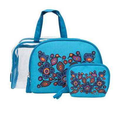 Cosmetic Bag Set - Flowers and Birds
