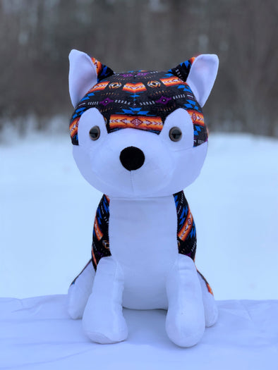 Plush Toy - Large Husky - Black