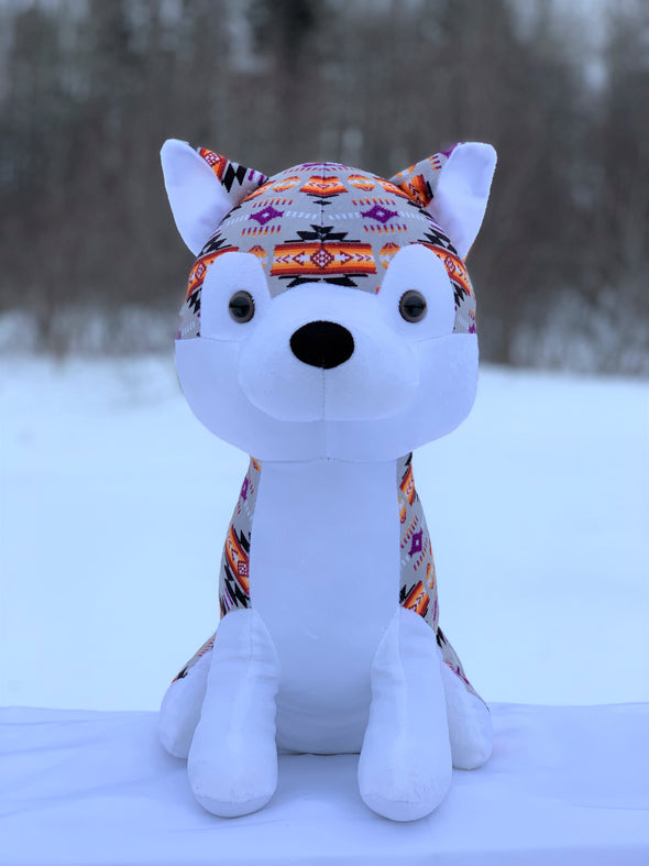 Plush Toy - Large Husky - Grey