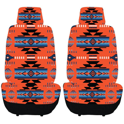 Auto Seat Covers - Cardinal Red & Blue