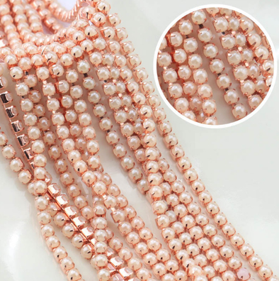 Pearl Banding - Cream on Rose Gold (SS8)