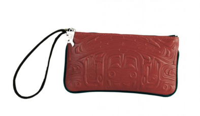 Leather Wristlet - Bear Box Red
