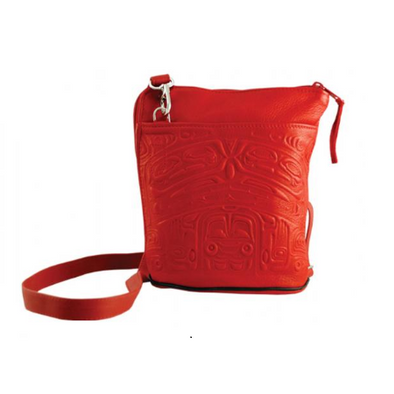 Deerskin Bucket Bag - Red
