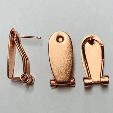 Leverback Earring Posts - Rose Gold (10 pairs)