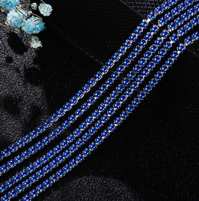 Pearl Banding - Royal Blue on Silver (SS6)