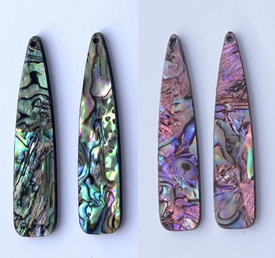 Shell Cab - Abalone Veneer Long Drops