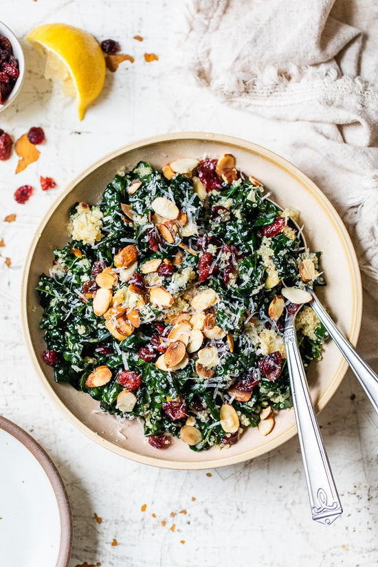 Kale Salad With Quinoa And Cranberries