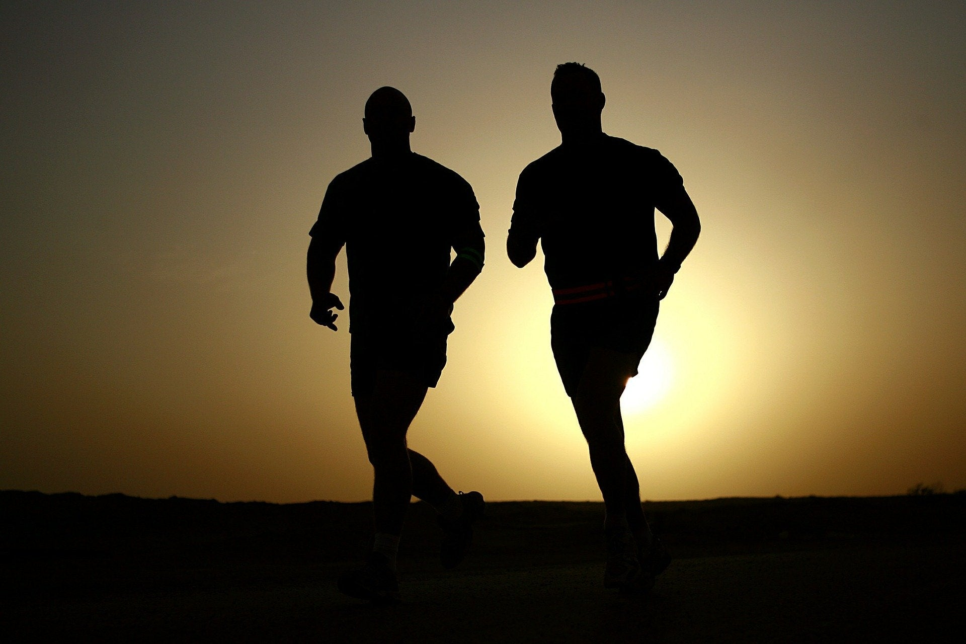 Runners and Sunrise