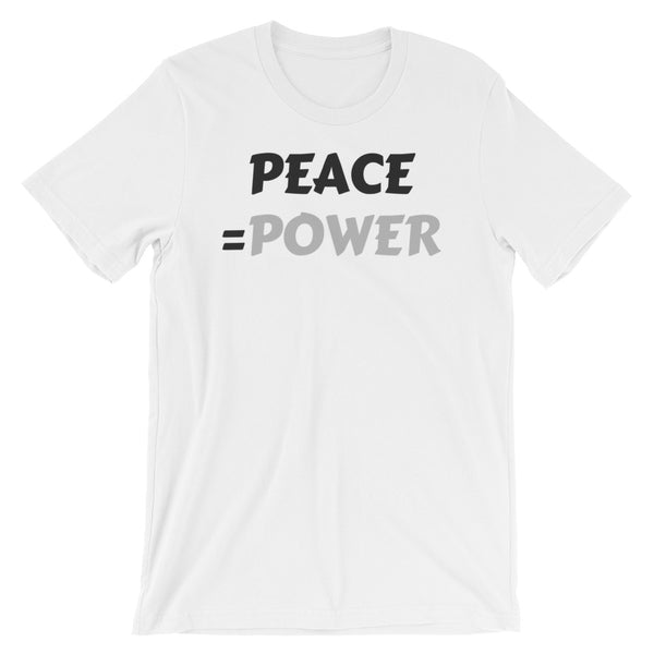 Peace = Power Short-Sleeve Unisex T-Shirt - Evolved By Faith Apparel