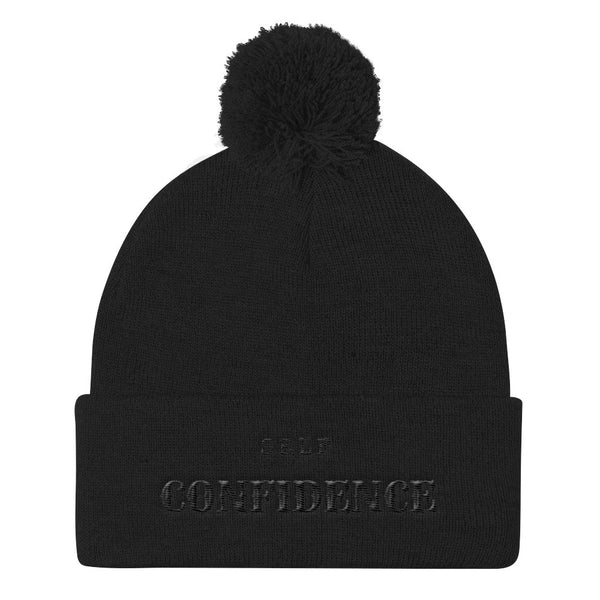 Self Confidence Pom Pom Knit Cap