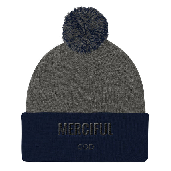 Merciful God Pom Pom Knit Cap - Evolved By Faith Apparel