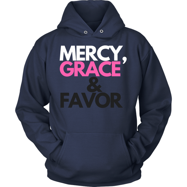 Mercy Grace & Favor Unisex Hoodie - Evolved By Faith Apparel