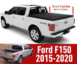 "Ford F150 Standard Short Bed 6.5"", 2015-2020, Rollup Truck Tonneau Box Cover"