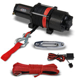 3500 lbs UTV/ATV Electric Winch w/Synthetic Rope & Hawse Fairlead