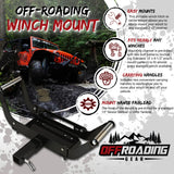 Offroading Gear Portable Trailer Hitch Winch Mount/Cradle with Hitch Receiver Lock