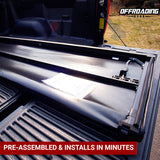 Soft Tonneau Cover for Pickup Truck Bed, Fri-Fold Vinyl with FREE Storage Pocket