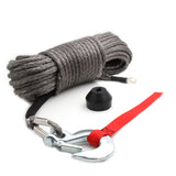 Synthetic Winch Rope Kit w/ Snap Hook and Rubber Stopper
