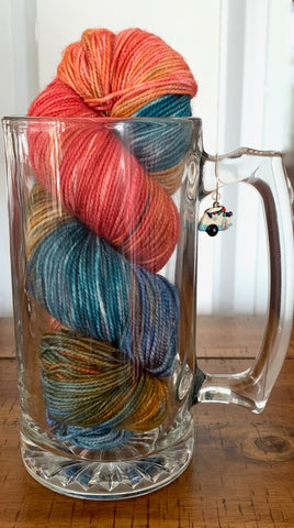 beer mug and yarn
