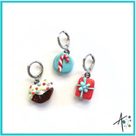 Special Treat Set Stitch Marker / Progress Keeper / Earring