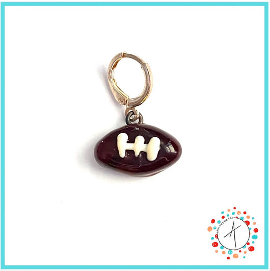 Football Stitch Marker / Progress Keeper / Earring