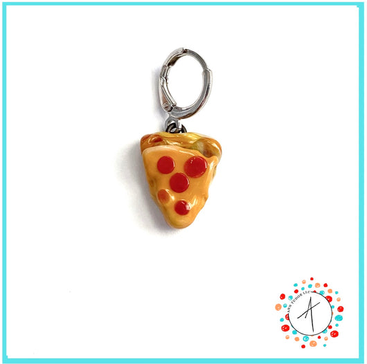 Pizza Slice Stitch Marker / Progress Keeper / Earring