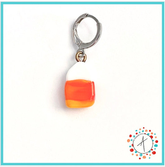 Candy Corn Stitch Marker / Progress Keeper / Earring