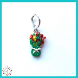 Flower - Bouquet Stitch Marker / Progress Keeper / Earring