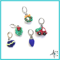 Decorating Party Set Stitch Marker / Progress Keeper / Earring