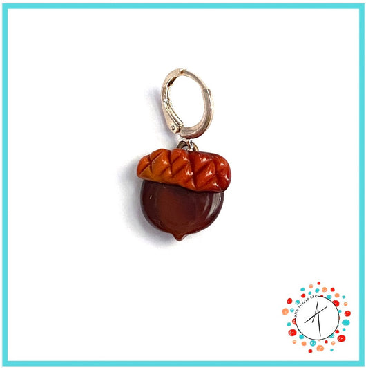 Acorn Stitch Marker / Progress Keeper / Earring