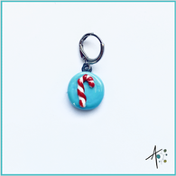 Candy Cane Stitch Marker / Progress Keeper / Earring