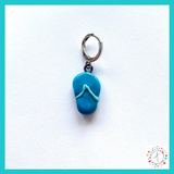 Flip Flop Stitch Marker / Progress Keeper / Earring