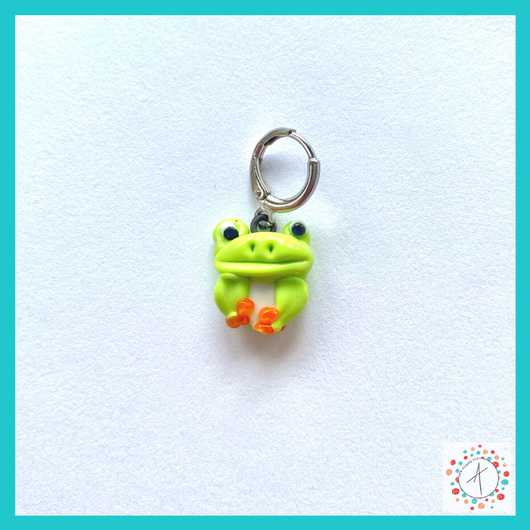 Frog Stitch Marker / Progress Keeper / Earring