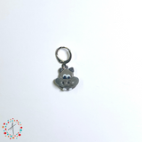 Hippo Stitch Marker / Progress Keeper / Earring