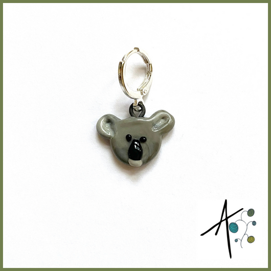 Koala Stitch Marker / Progress Keeper / Earring