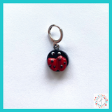 Ladybug Stitch Marker / Progress Keeper / Earring
