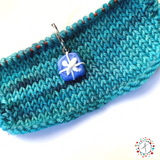Wrapped Present Stitch Marker / Progress Keeper / Earring