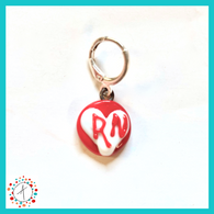 RN Love Stitch Marker / Progress Keeper / Earring