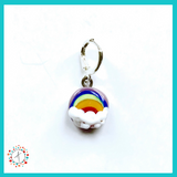 Rainbow Stitch Marker / Progress Keeper / Earring