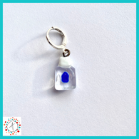 Hand Sanitizer Stitch Marker / Progress Keeper / Earring