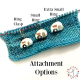 Natural Sheep Set Stitch Marker / Progress Keeper / Earring