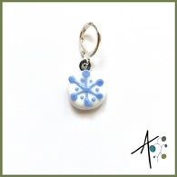 Small Snowflake Stitch Marker / Progress Keeper / Earring