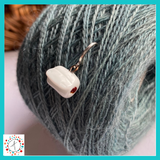 Toilet Paper - Over the Top  Stitch Marker / Progress Keeper / Earring